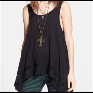 Free People ✌️ Boho Tank with Lace